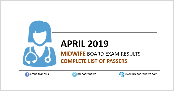 RESULTS: April 2019 Midwife board exam list of passers