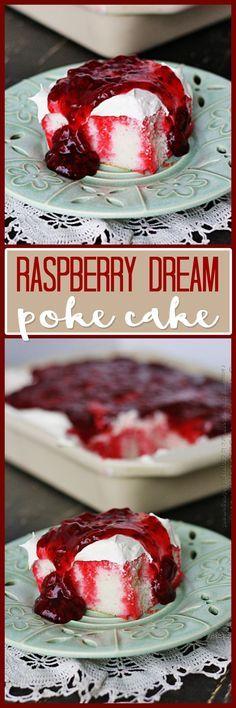 Raspberry Dream Poke Cake