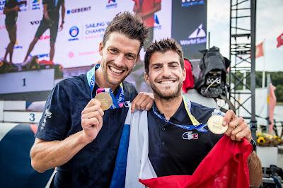 les Français Kévin Péponnet et Jérémie Mion en 470 Hommes sont devenus champions du Monde
