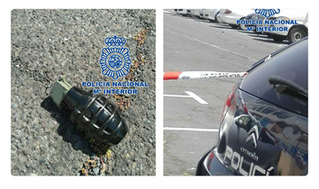 Acordonada calle en Tenerife por una granada