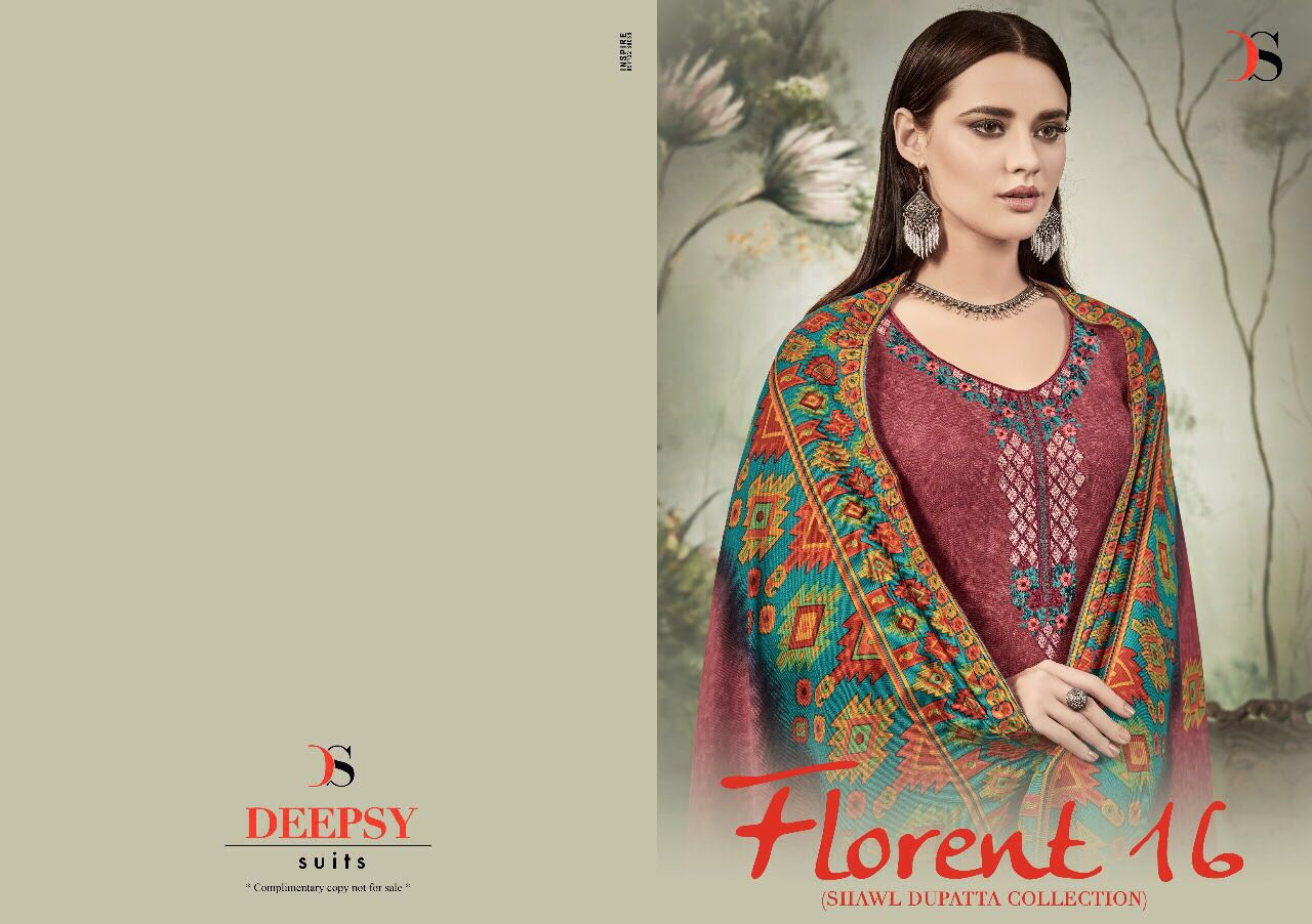 FLORENT 16-New Arrival Pashmina Dress Material