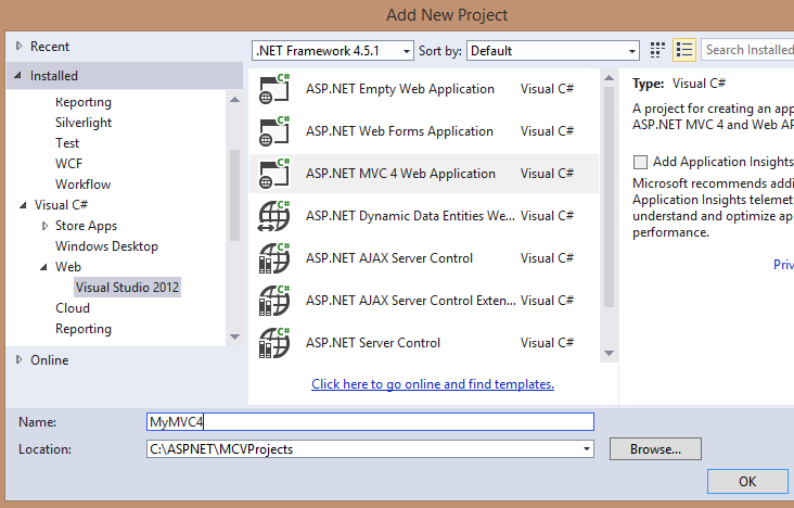 ASP.NET MVC 4 Web Application