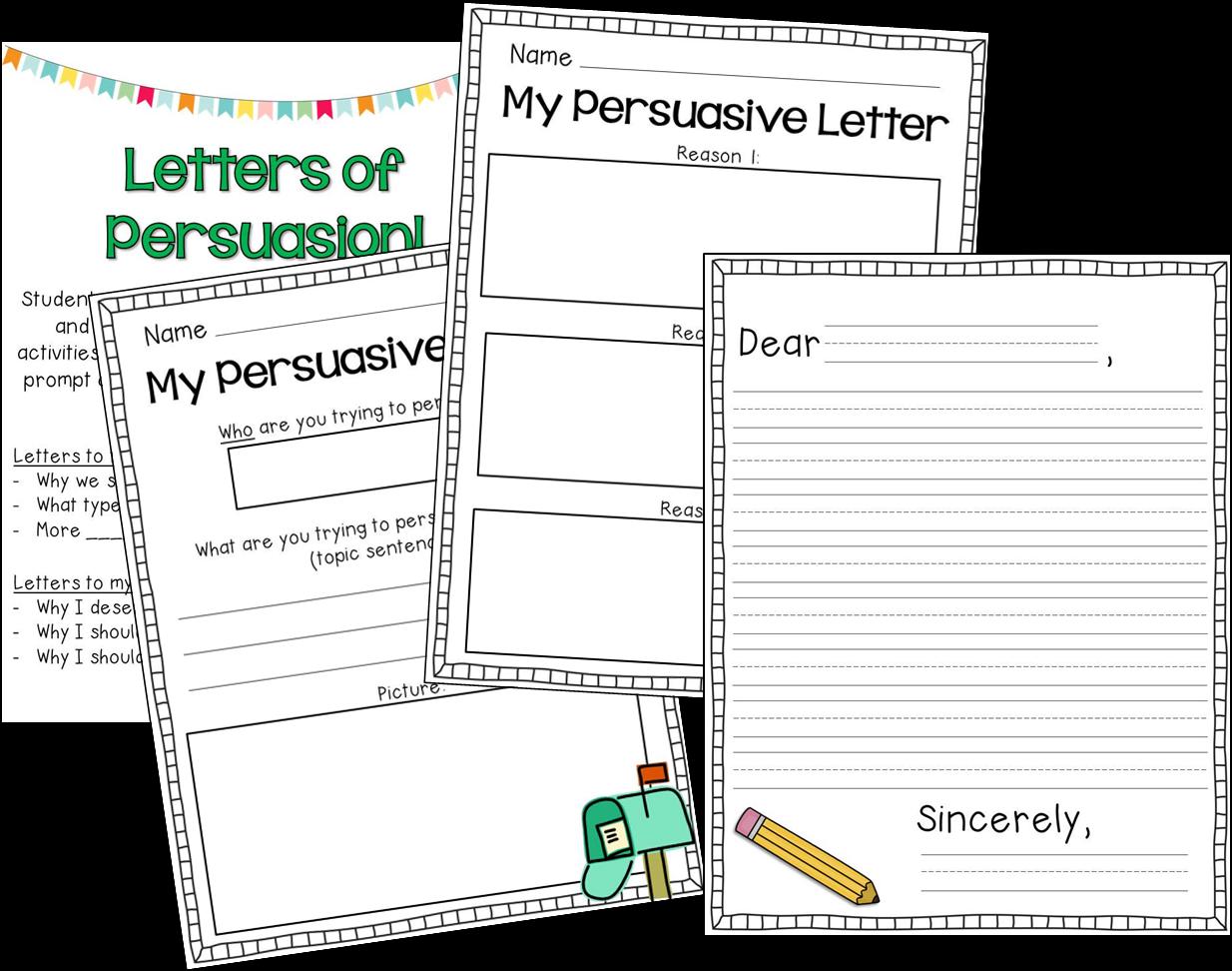 Persuasive Letter Graphic Organizer 2nd Grade