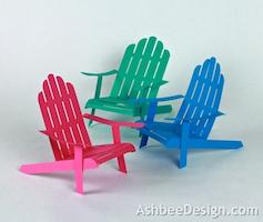 D Adirondack Chairs