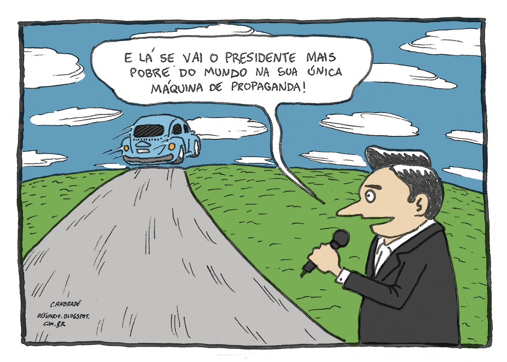 Charge sobre Mujica - por Cesar Andrade