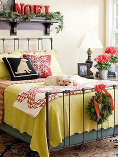 Decoración dormitorio Navidad