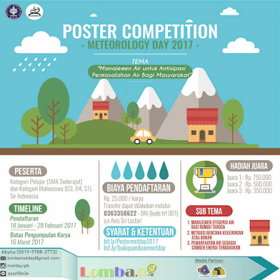 Lomba Poster Competition 2017 by Institut Pertanian Bogor