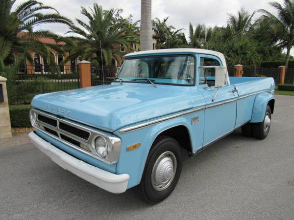 1970 Dodge Dually Pickup Vintage Camper Special D200 For Sale