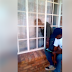 Thief Gets Trapped While Trying To Break Into Man's House (PHOTOS/VIDEO)