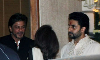 Shahrukh Khan and Abhishek Bachchan in the party
