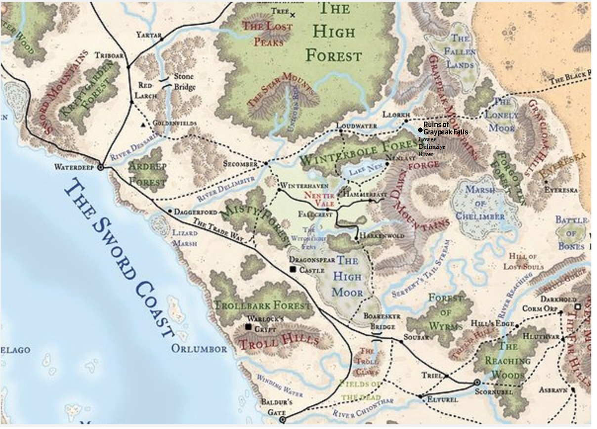 It is a graphic of Bewitching Storm King's Thunder Printable Maps