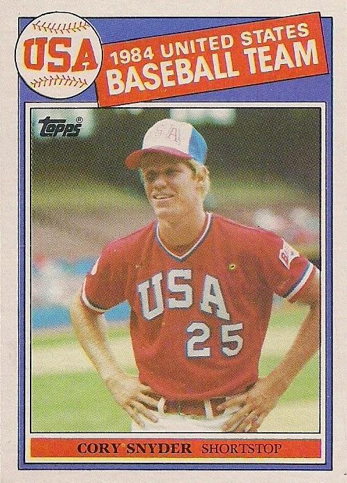 1985 Topps 403 1984 United States Baseball Team Cory Snyder