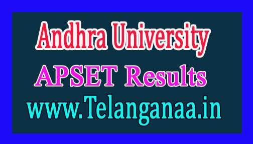 Andhra University APSET Results 2016 APSET Rank Card Download