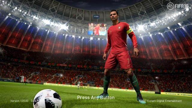 Ronaldo World Cup 2018 Start Screen PES 2018
