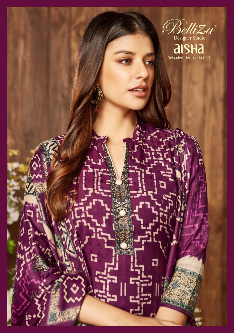 9bf087a7a6 Belliza Designer Aisha vol 3 Bandhani printed Pashmina Suits - Diwan ...