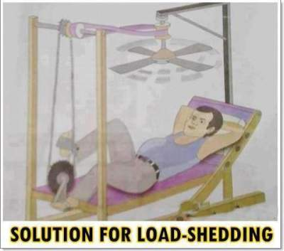 funny solution for electrical load shedding