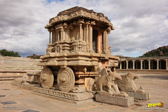 Stone Chariot, Vithala temple, Hampi