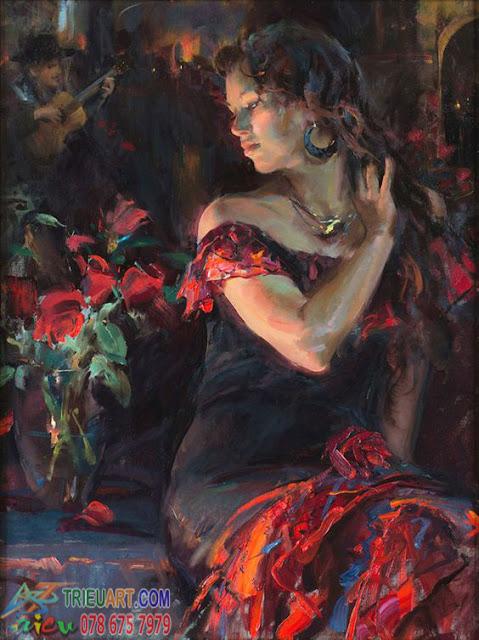 tranh sơn dầu lãng mạn