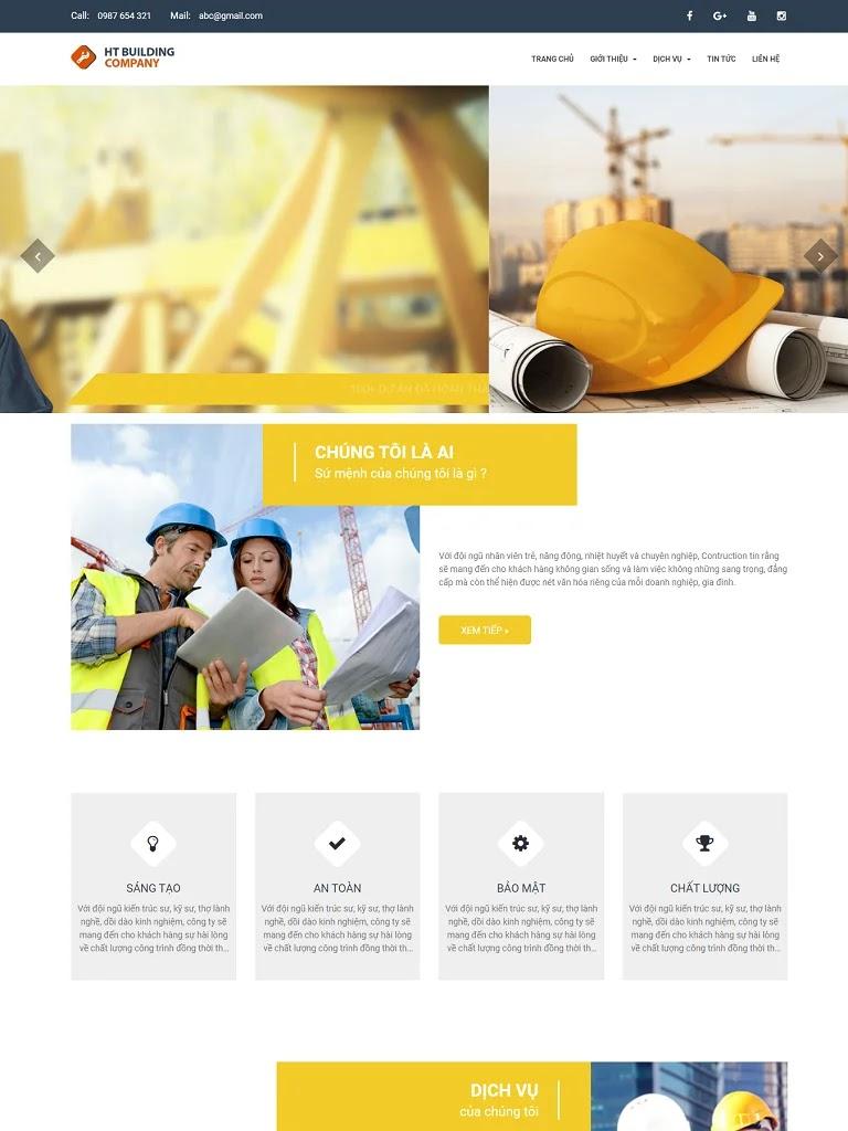 Theme template blogspot công ty thi công xây dựng - Ảnh 1