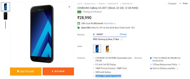 Samsung galaxy a5 price in india flipkart