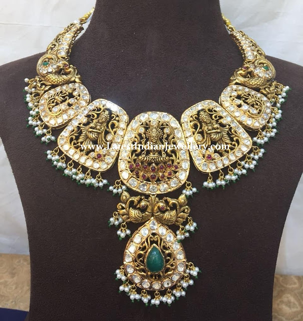 Polki Large Lakshmi Necklace