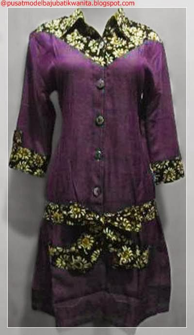 Model baju batik kerja wanita terbaru  Gambar Model Baju
