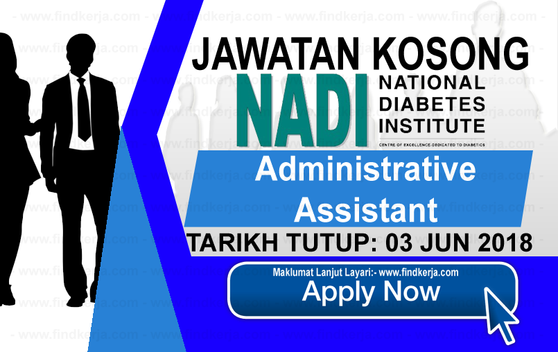 Jawatan Kerja Kosong NADI - National Diabetes Institute logo www.findkerja.com jun 2018