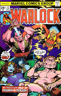 Warlock v1 #12 marvel 1970s bronze age comic book cover art by Jim Starlin