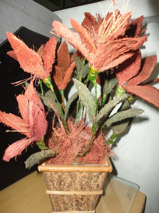 Membuat Kerajinan Bunga Dari Serabut Kelapa Sekolah 69 Nett
