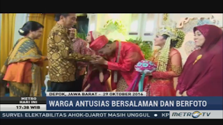 Jokowi Hadiri Pernikahan Anak Pegawai Istana 30 Oktober 2016 Keren