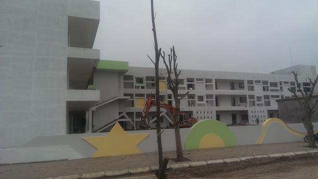 Trường mầm non Thanh Hà đang hoàn thiện