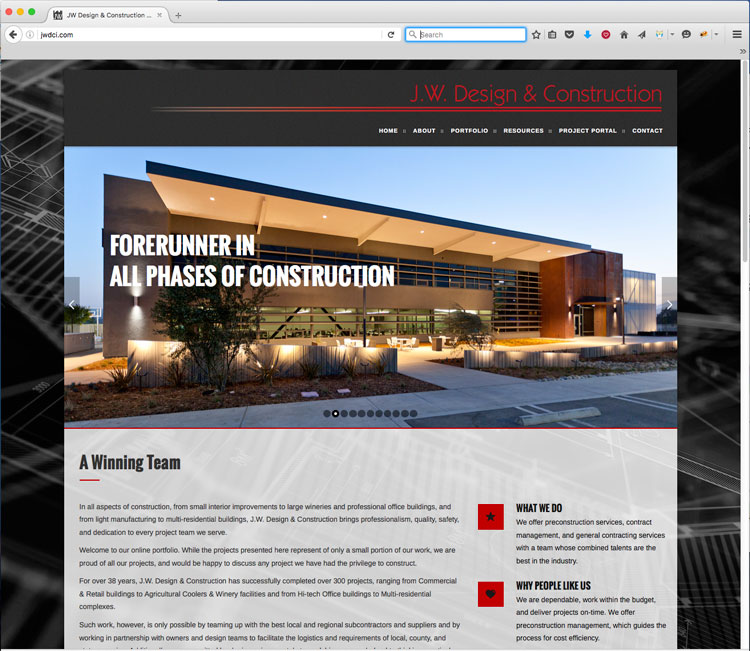construction company website design web development studio 101 west marketing and design - West Website