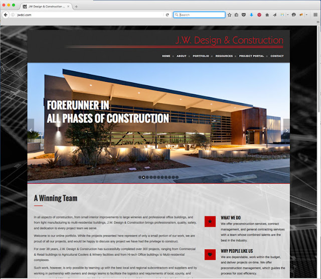 Construction Company Website Design - Web Development - Studio 101 West Marketing and Design