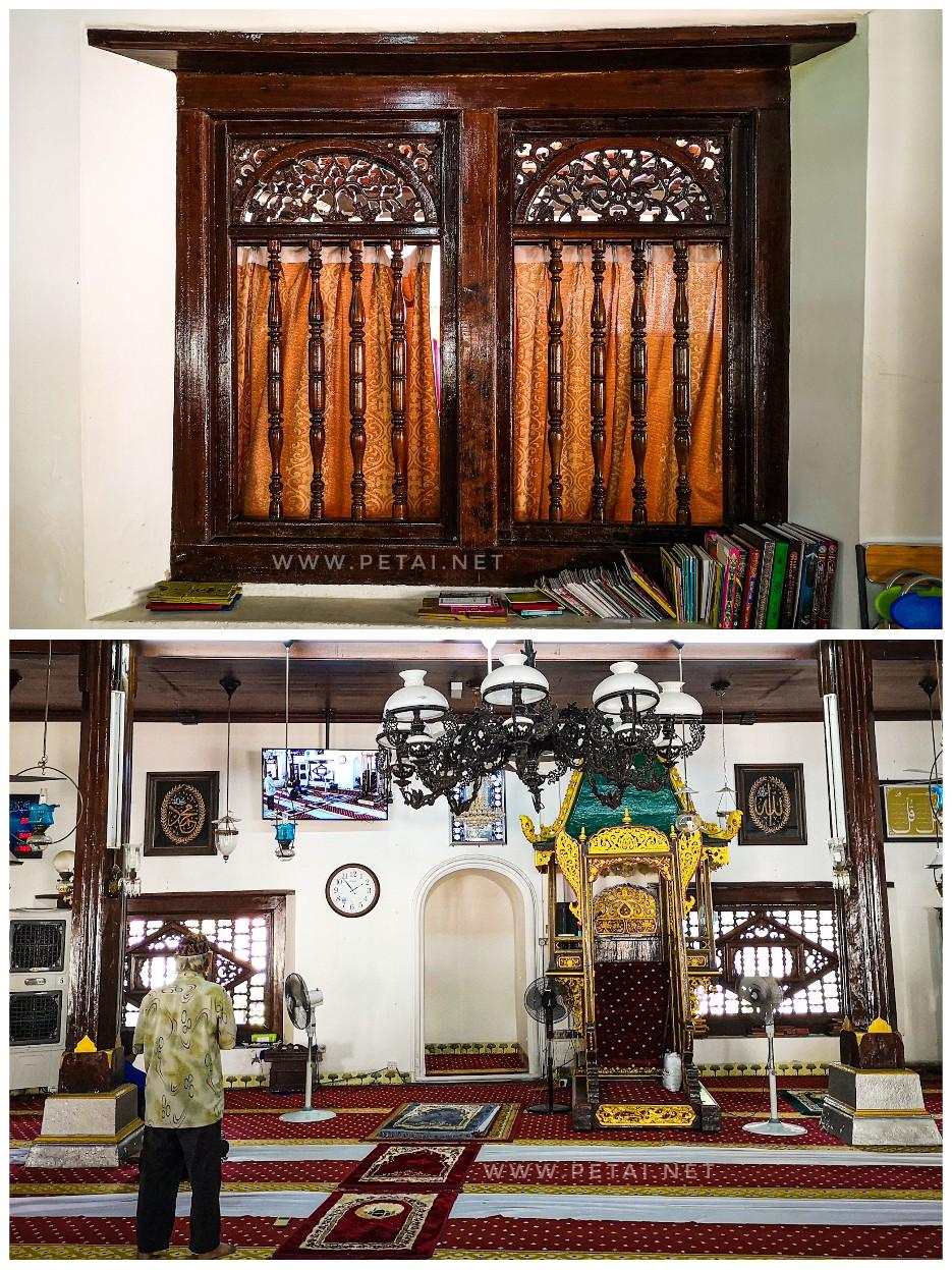 Masjid Kampung Hulu, Melaka - dalam