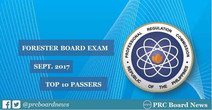 RESULTS: September 2017 Forester board exam top 10 passers