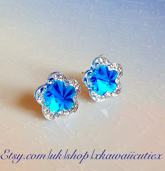 New Blue Star Studs Magical Girl