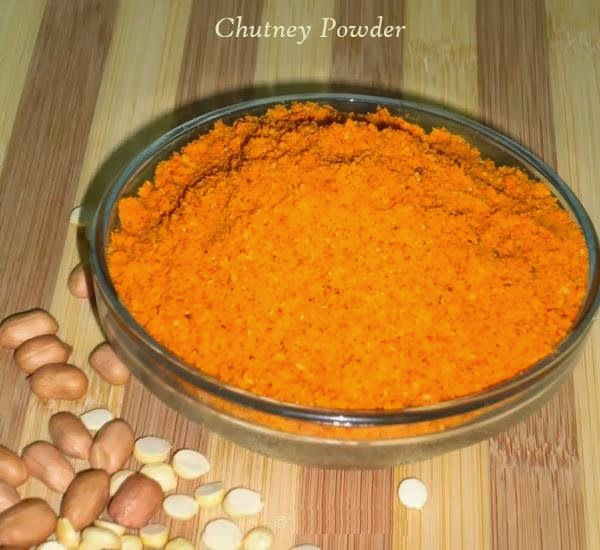 chutney powder in a bowl