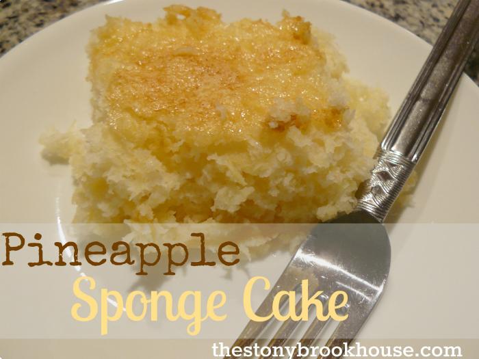 Pineapple Sponge Cake
