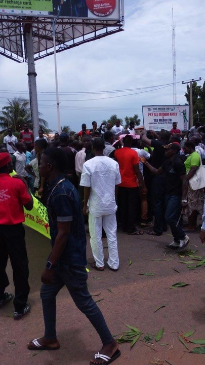 Protest In Asaba Over Killing Of People By Fullani Herdsmen