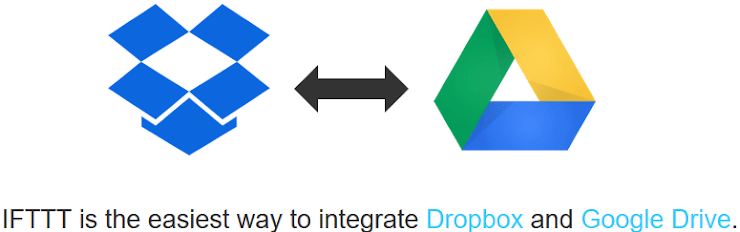 Custom IFTTT recipe for Google Drive and Dropbox syncing