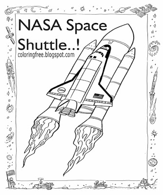 Clipart school kids education activity NASA space shuttle colouring solar system wallpaper worksheet