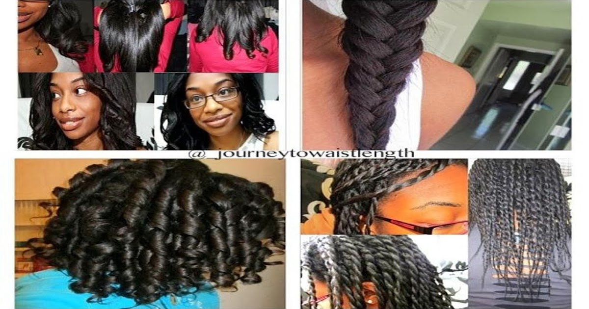 transitioning from relaxed to hair styles journey to waist length 10 different hairstyles 3569