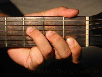 Cara Menekan Senar Chord F Major