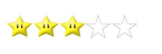 Resultado de imagen de estrellas puntuación 3/5