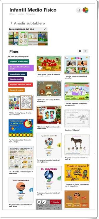 """""""Conjunto de juegos y actividades de Medio Físico de Educación Infantil"""""""