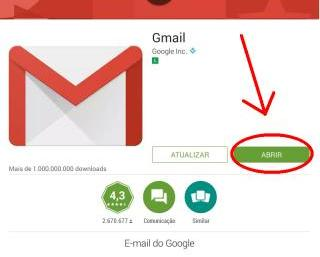 Abrir programa do Gmail