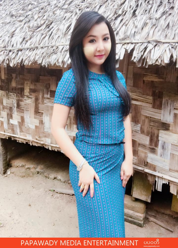 Thun Sett At Movie Shooting With Myanmar Tradtional Outfit Fashion Style