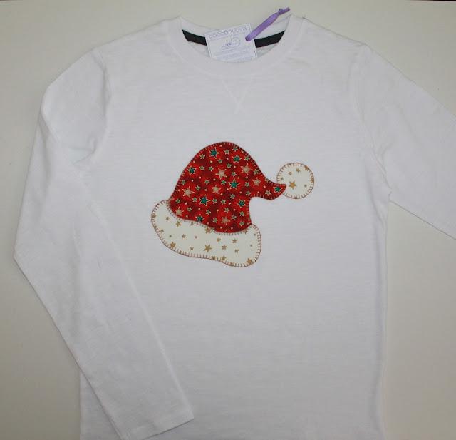 camiseta navidad gorro papa noel