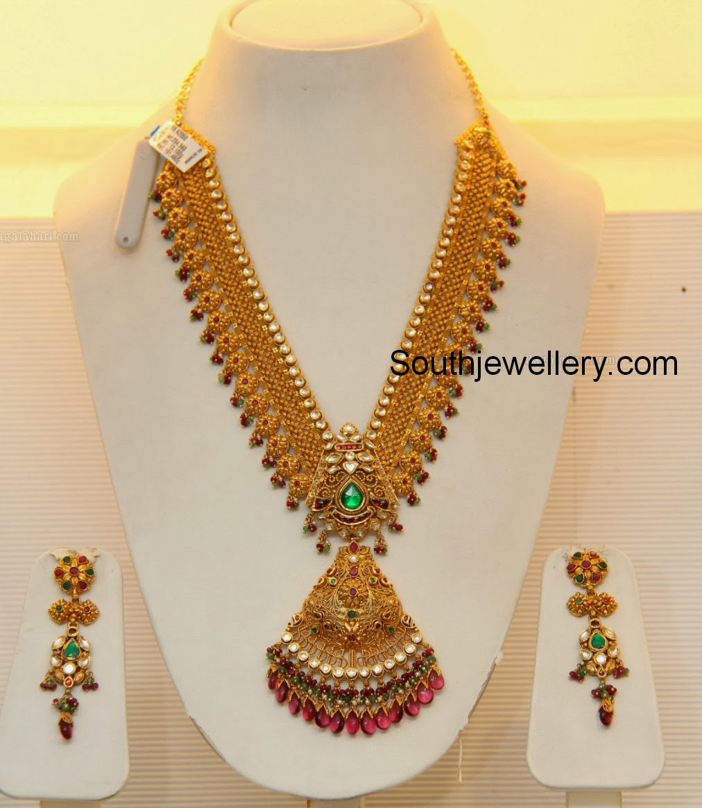 Bridal Gold Necklace by GRT Jewellers - Jewellery Designs