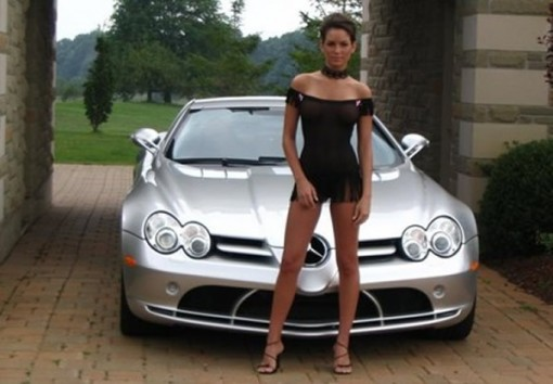 Sport Compact Car With Beautiful Girls